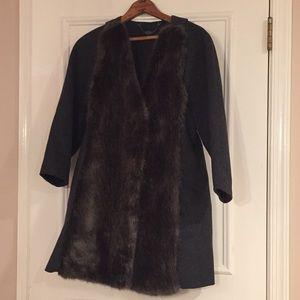 Tibi Wool & (FAUX) Fur Coat ---> VEST Size 4